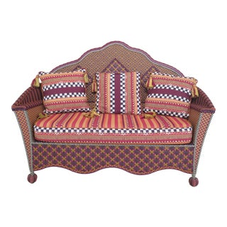 Mackenzie-Childs Purple Sofa For Sale