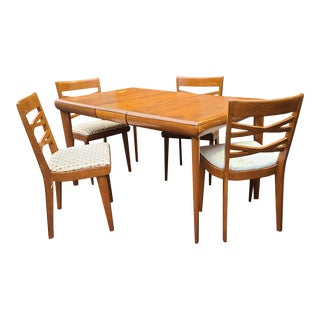 Mid Century Heywood Wakefield Maple Dining Set - 5 Pieces For Sale