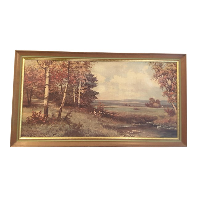 Vintage 60's Pine & Birch Print - Image 1 of 7