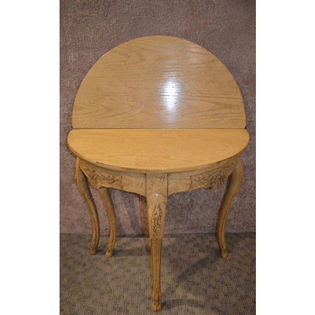 Baker Country French Style Flip Top Card Table For Sale - Image 11 of 13