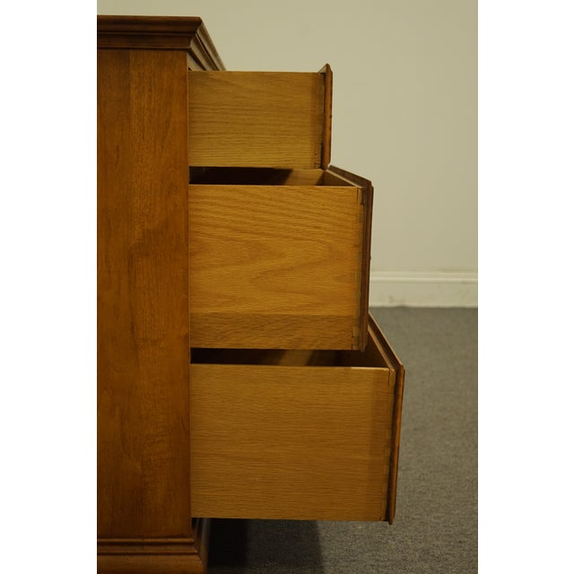 "Wood Statton Trutype Americana Solid Maple Colonial Style 56"" Double Dresser For Sale - Image 7 of 13"