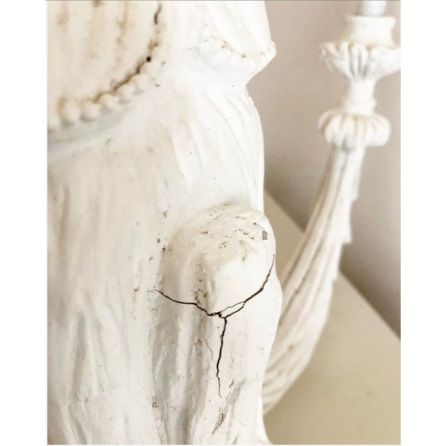 Vintage Dorothy Draper Style Draped White Chandelier For Sale - Image 12 of 13