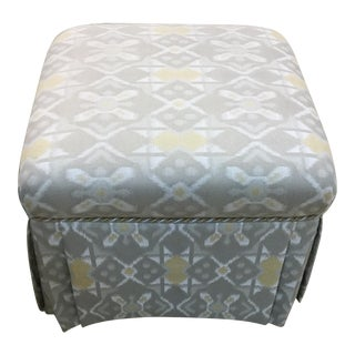 "Skirted Ottoman 20"" Square With Decorative Trim For Sale"