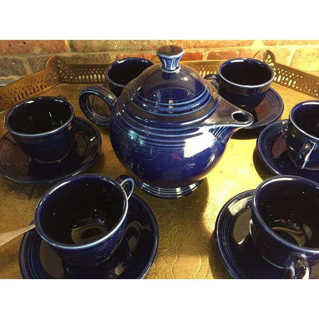 1992 Fiesta Navy Tea Set - 14 Pieces For Sale - Image 4 of 11