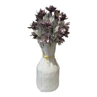 Italian Ceramic Flower Arrangement Sculpture