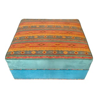 1980s Repurposed Southwestern Style Ottoman For Sale