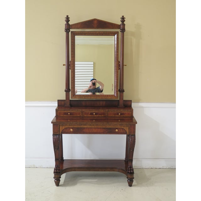 Maitland Smith Figural Mahogany Empire Dressing Vanity For Sale - Image 13 of 13