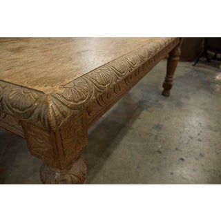 Elizabethan Style Bleached Oak Table With Beautiful Carving on Base,Edges of Table Top and Legs. Preview