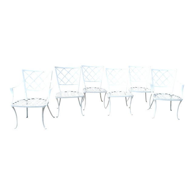 Early Brown Jordan Patio Dinning Chairs - Set of 6 For Sale