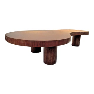 "Jean Royère Genuine and Documented Oak Coffee Table, Model ""Flaque"""