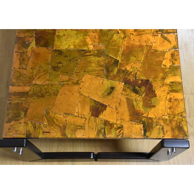 Lafer Brazilian Rosewood and Copper Coffee Table - Image 10 of 11