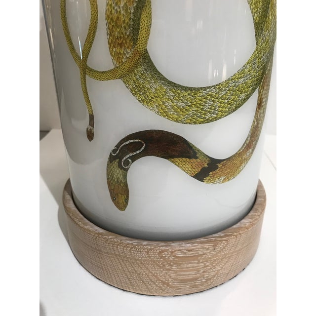 Liz Marsh Designs Single Golden Serpent Table Lamp For Sale - Image 11 of 12