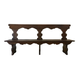 18th C Italian Walnut Hall Bench For Sale