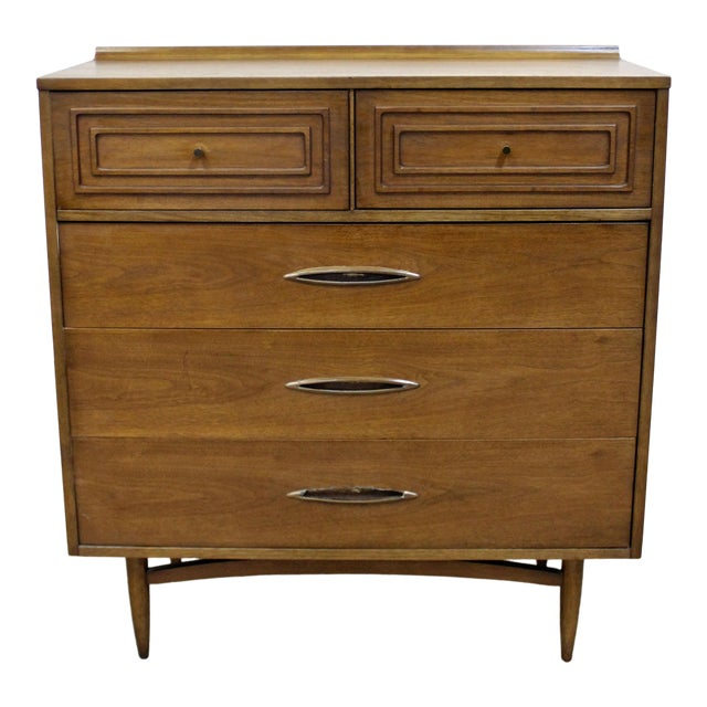 Mid-Century Modern Broyhill Premier Sculptra Tall Chest of Drawers For Sale