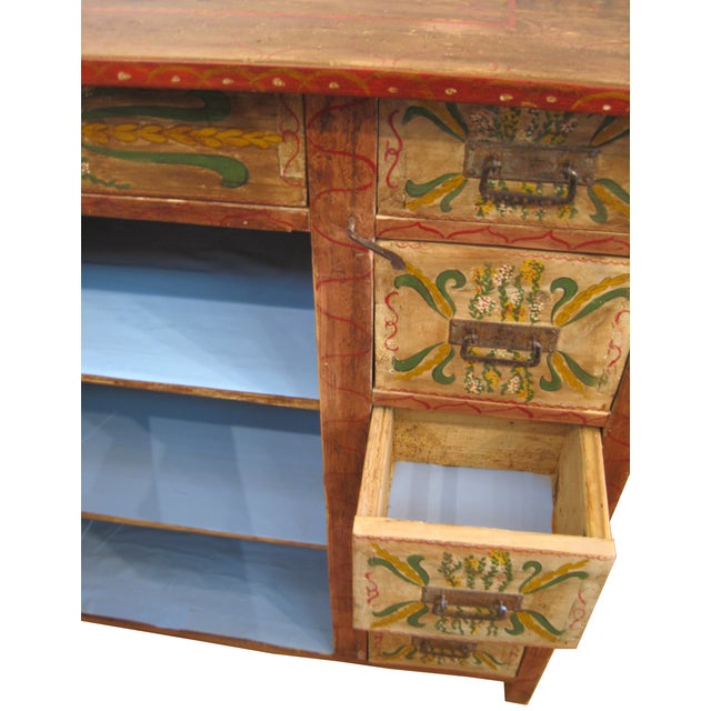 1880s Painted Pennsylvania Dutch Cabinet - Image 2 of 7