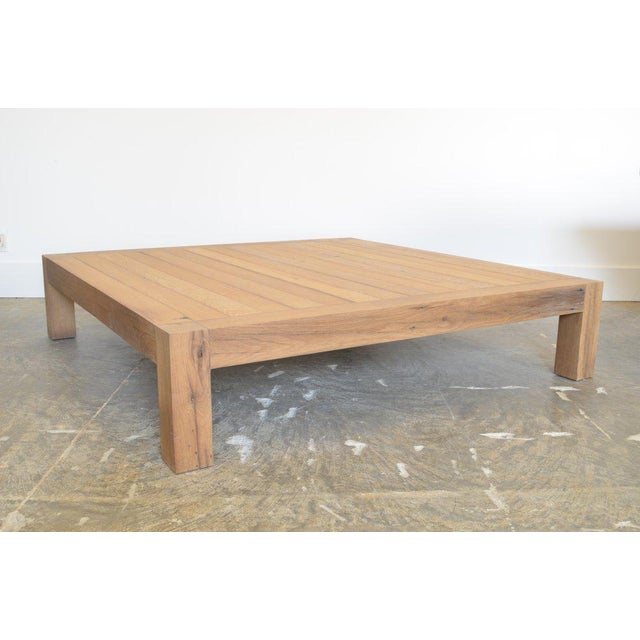 Ozshop Antique Oak Parson's Coffee Table - Square For Sale In Phoenix - Image 6 of 6