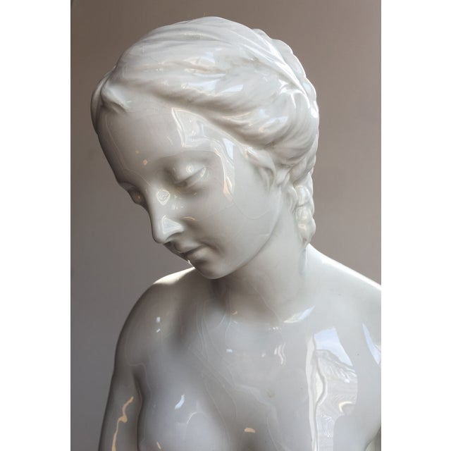 19th C. Falconet Porcelain 'Bather' Sculpture - Image 8 of 10