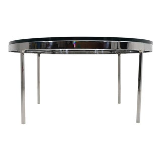 Nicos Zographos Coffee Table in Polished Stainless Steel For Sale