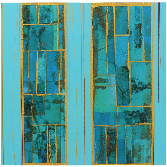 """""""Elements No. 8"""" Original Abstract Mixed Media Painting by Alexander Eulert For Sale"""