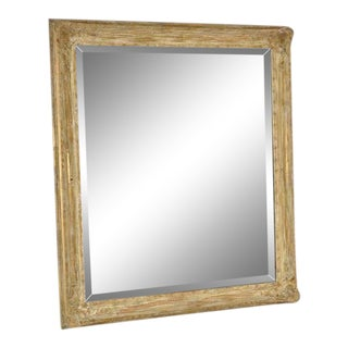 Mid 20th Century Vintage Newcomb Macklin Beveled Mirror For Sale