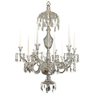 Late 18th Century Georgian Crystal Chandelier