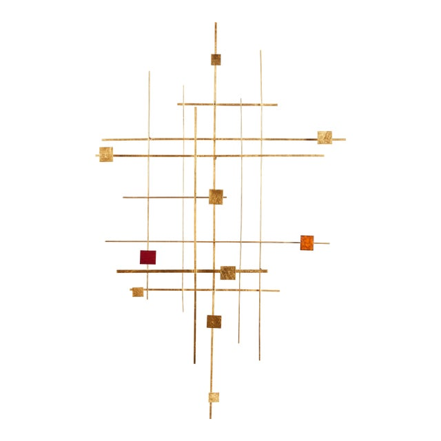 Enamel and Gold Leaf Sculpture by Robert Hogue For Sale