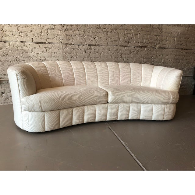 Weiman 1980s Curved Weiman Sofas Styled After Vladimir Kagan - a Pair For Sale - Image 4 of 7
