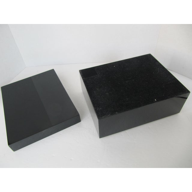 Minimalist Black Lacquer Box - Image 3 of 6