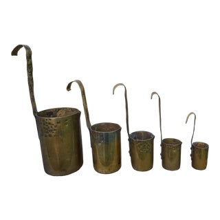 Set 19th Century Brass Grain Measures For Sale