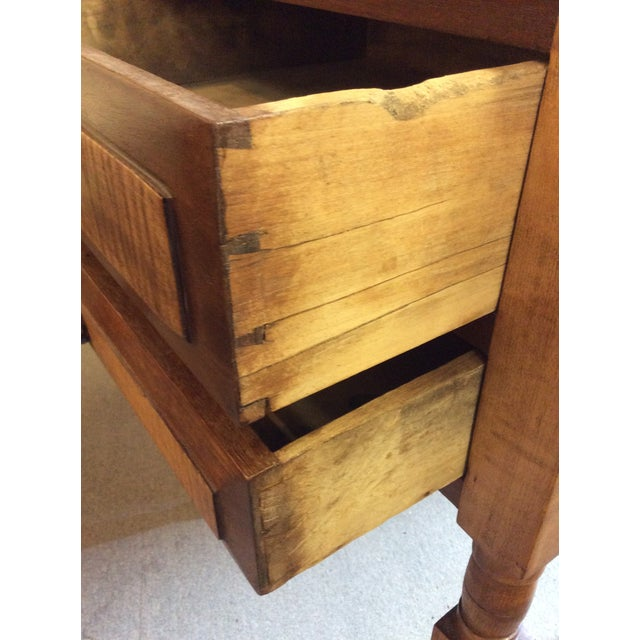 Brown Antique Tiger Maple and Cherry 2 Drawer Stand For Sale - Image 8 of 9
