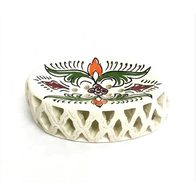 Handpainted Moroccan Ceramic Soap Dish - Image 3 of 3