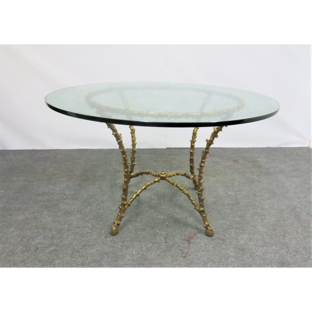 Maison Bagués Style Gilt Tree Form Center Table For Sale In Philadelphia - Image 6 of 6