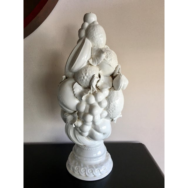 Italian Vintage White Italian Tuscan Style White Fruit Topiary For Sale - Image 3 of 5