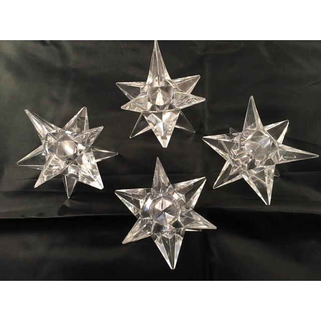 Rosenthal Crystal Star Candle Holders - 4 - Image 2 of 5