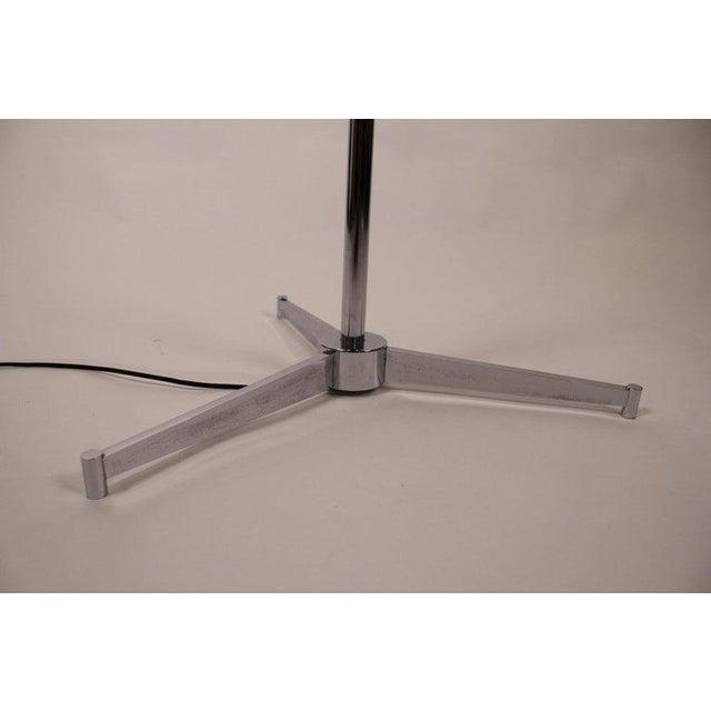 Aluminum 1950s Vintage Polished Nickel Arredoluce Monza Triennale Tripod Base Floor Lamp For Sale - Image 7 of 10