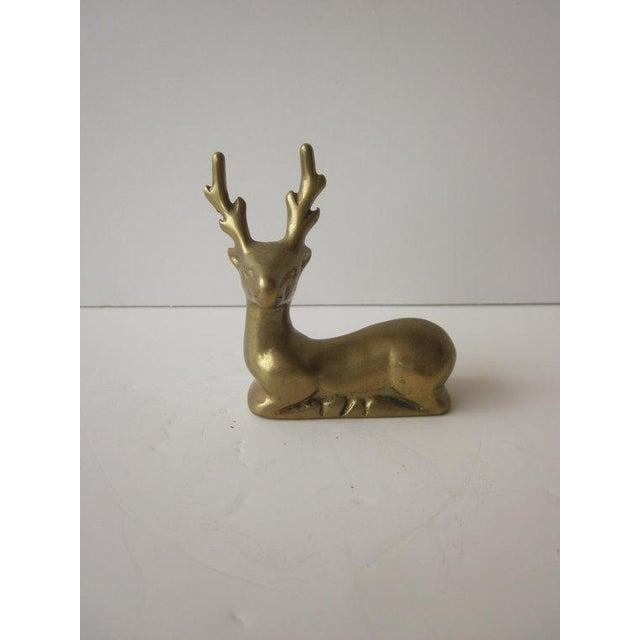 Hollywood Regency Brass Reindeer - Pair Deer - Image 6 of 6