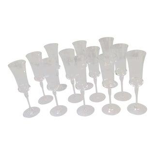 Crystal Champagne Flutes - Set of 12 For Sale