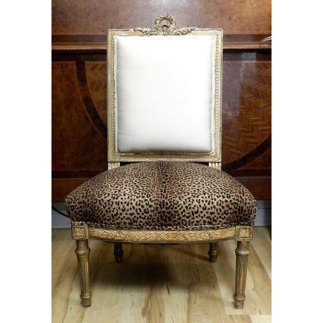 Antique French Slipper Chair - Image 2 of 5
