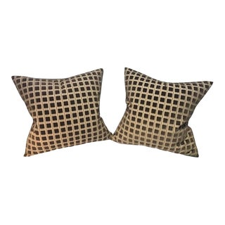 """Clarence House """"Velours Marmande"""" Pillows - a Pair For Sale"""