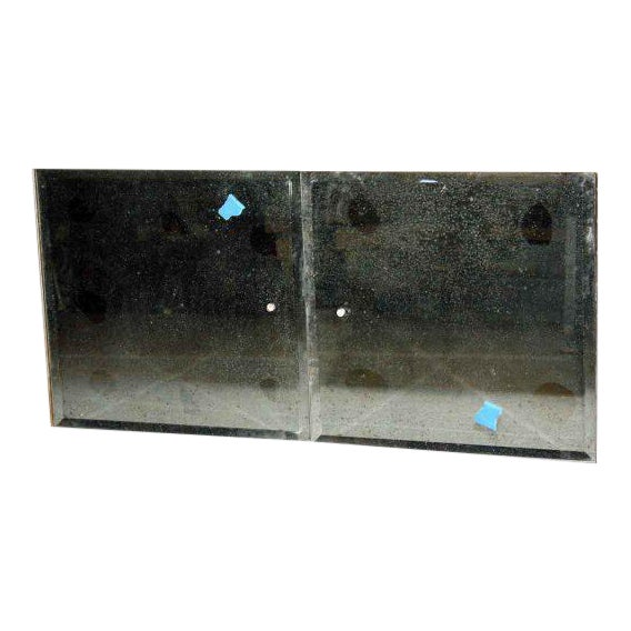 Vintage Mirrored Glass Cabinet Doors - a Pair - Image 1 of 4