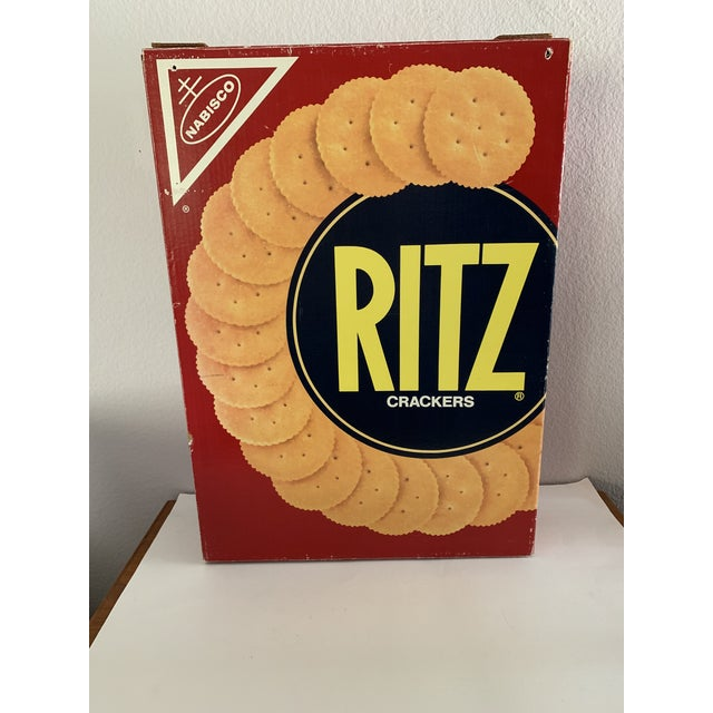 "Paper Pop Art Prop Supersized ""Ritz "" Crackers Box For Sale - Image 7 of 11"