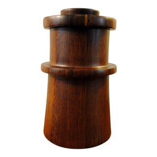 Rare Dansk Wenge Wood Ice Bucket by Jens Quistgaard For Sale