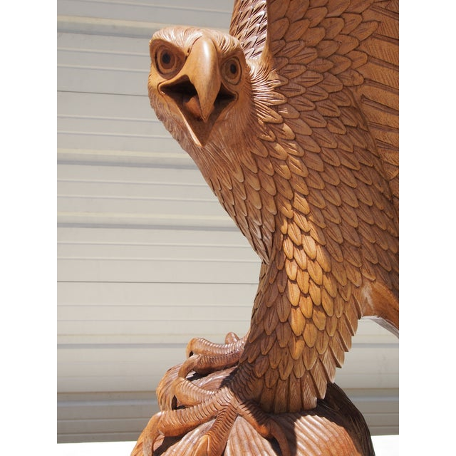Wood Carved Eagle Sculpture - Image 5 of 6