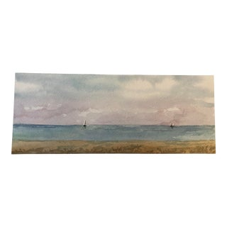 "Nancy Smith Original Watercolor Seascape ""Catch the Wind"" For Sale"