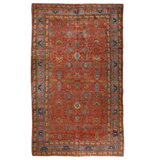 Antique Oversize Persian Bidjar Carpet
