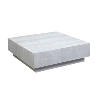 White Elm Block Coffee Table For Sale