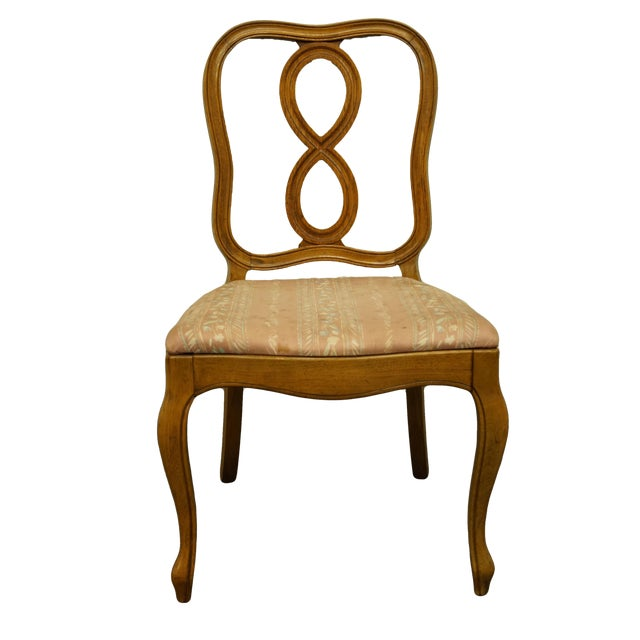 Vintage Thomasville Furniture Tableau Collection Dining Side Chair For Sale