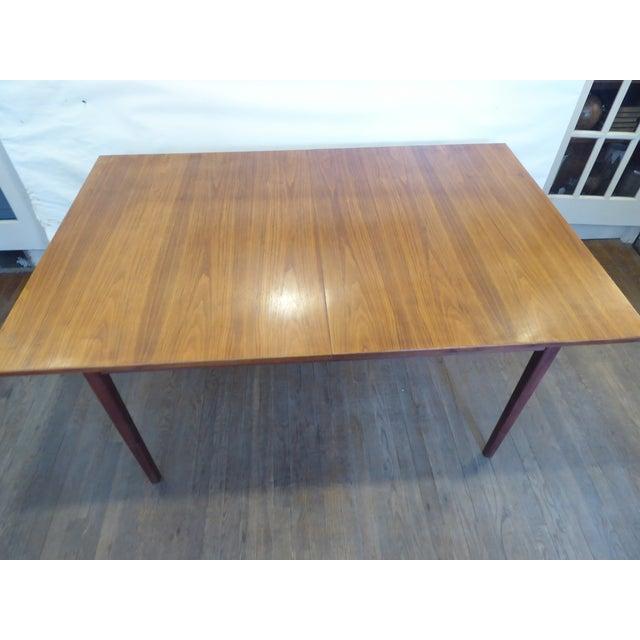 Vintage Modern Walnut Dining Table For Sale - Image 4 of 8