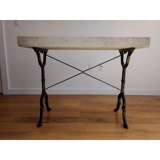 20th Century French Marble & Iron Bistro Table Preview
