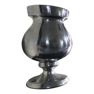Solid Pewter Vase